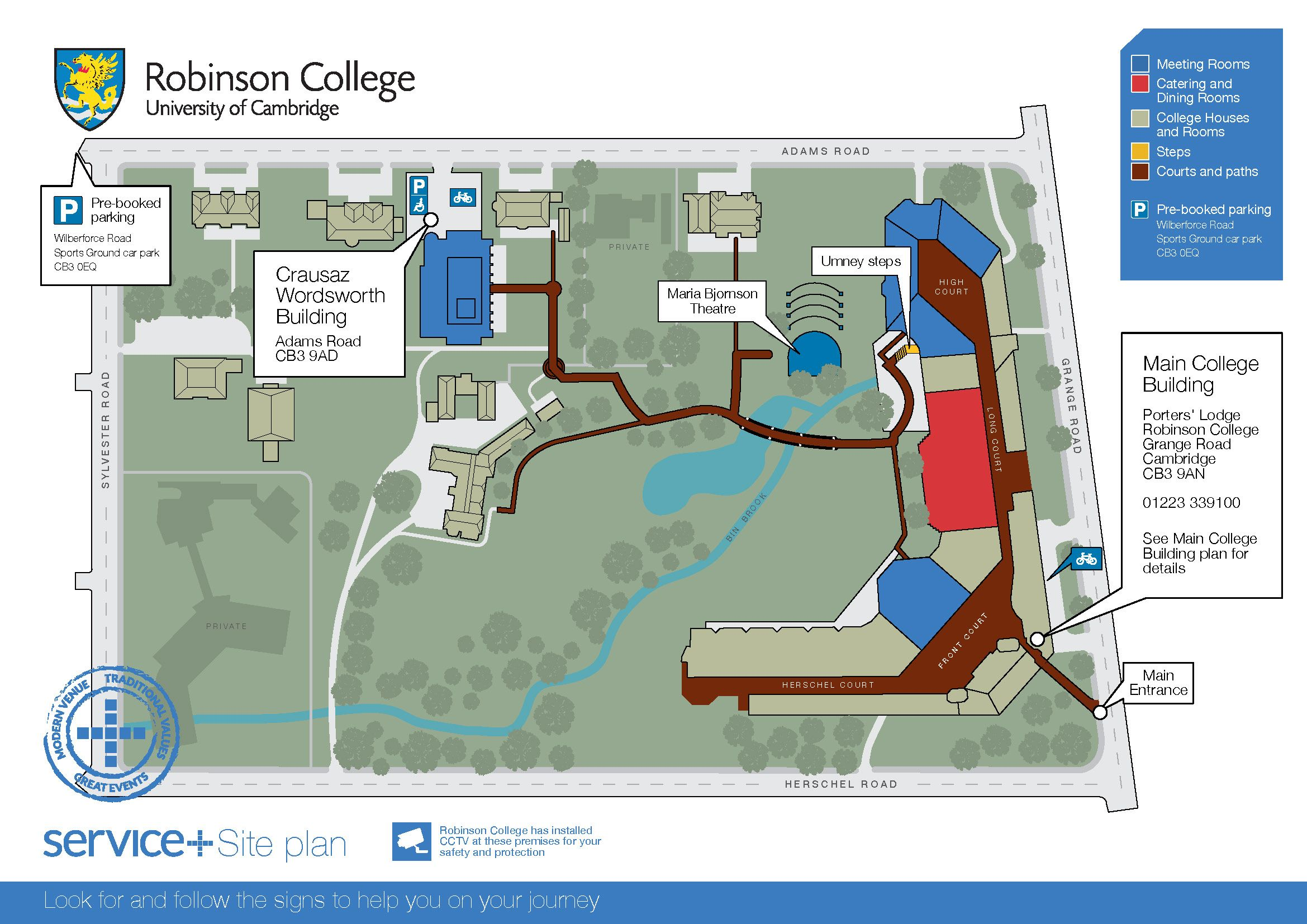 Robinson College Site Plan