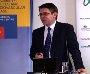 Dr David Ogilvie giving a talk